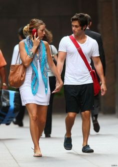 Blake Lively and Penn Badgley, they got great style together