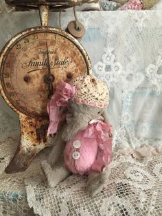 Handmade Vintage Style Elephant wearing by olivegroveprimitives