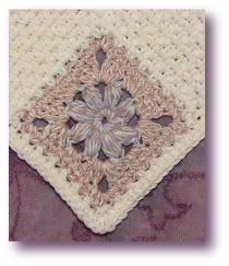 puff flower crochet dishcloth