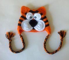 Crochet Baby Tiger Beanie by ModernBabyCrochet on Etsy, $24.00