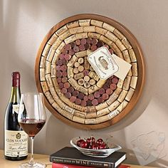 Round Wine Cork Board Kit by Wine Enthusiast. Enter to win on http://www.oregonwinette.com from Nov. 24-Nov 30!