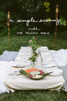 A Simple Evening with The Yellow Table - The Fresh Exchange
