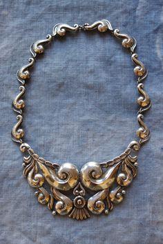 Gorgeous vintage Gerardo Lopez Taxco silver necklace.