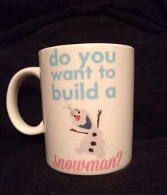 Olaf Coffee Cup - Do you wanna build a snowman mug on Etsy, $9.99