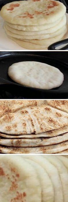 Poco Después de hacer Pan de Pita vas estar seguro, que es ¡riquísimo y sano! #comohacer #pandepita #sano #pan #panfrances #pantone #panes #pantone #pan #receta #recipe #casero #torta #tartas #pastel #nestlecocina #bizcocho #bizcochuelo #tasty #cocina #chocolate Mézcla muy bien los 3 ingredientes hasta lograr una masa uniforme pero lí... Argentina Food, Mexican Kitchens, Salty Foods, Pan Dulce, Pan Bread, Cooking Time, Mexican Food Recipes, Love Food, Baking Recipes