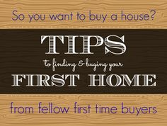 Tips for seeking out and finding your first dream #home.