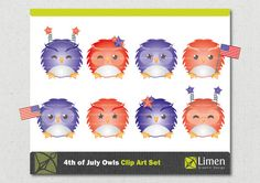 4th of July Clip Art Owl Clip Art Independence Day Owl by limen