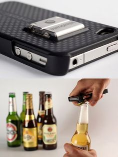 Intoxicase Bottle Opener iPhone Case - Sleek & Functional (for the sophisticated drinker, lol!) - Fancy