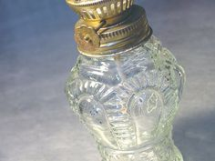 GREAT in the Bedroom.. with some scented oil!  VINTAGE OIL LAMP Molded Glass 1960s w by ShantyIrishStockyard, $12.50