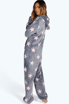 Soft Star Fleece Onesie  Onesie, Adult Jumpsuits Pajamas & Onesies Onesie, Adult Jumpsuits #Pajamas & Onesies, Snug Onesie, Soft Winter #Onesie, Onesies UK, #Onesies USA & AU