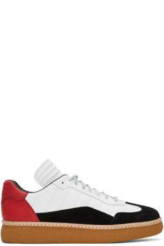 68b5a6a817b3 Alexander Wang - Tricolor Leather   Suede Eden Sneakers Herren Designer  Schuhe