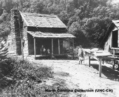 A North Carolina mountain farm in the early twentieth century. This family grew tobacco for cash and dried fruit for their use and to trade with neighbors.