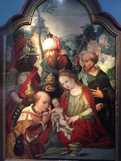 via Shelly Rae Clift These three kings are in Troyes France. Late 1400-early 1500 I believe. Any readers know the artist for this Adoration? Looks Netherlandish to me, but I could be wrong. :)
