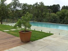 Glass Pool Fencing, Pool Fence, Pool Decks, Exterior Design, Interior And Exterior, Staircase Railing Design, Pool Landscaping, The Great Outdoors, Swimming Pools