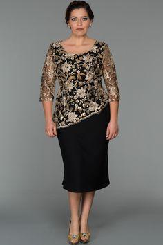 Schwarz-Gold Plus Size Plus Size Abendkleid - Outfits Evening Dresses Plus Size, Plus Size Dresses, Short Dresses, Formal Dresses, Wedding Dresses, Mother Of Groom Dresses, Mothers Dresses, Mom Dress, Lace Dress