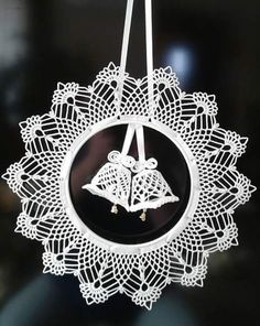 Best 12 Elegant Christmas decoration – snowflakes mobile – holiday decor – crochet snowflakes and wood – SkillOfKing. Crochet Christmas Decorations, Crochet Ornaments, Crochet Decoration, Crochet Snowflakes, Holiday Crochet, Handmade Ornaments, Christmas Wreaths, Christmas Crafts, Christmas Christmas
