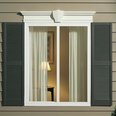 From Colonial to Craftsman, Window World has the perfect selection of shutters to match your home's style. Plus, with arch top and transom shutter top options, you can perfectly accent shaped windows. Modern Shutters, Types Of Shutters, Louvered Shutters, Exterior Remodel, Exterior Doors, Shutter Designs, Shaped Windows, Window Replacement, Traditional Exterior