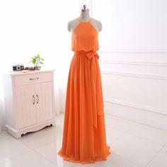 Elegant sleeveless party dresses chiffon A-line evening dresses E38