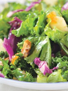 Try this out for lunch: Kale Salad with Fruity Vinaigrette