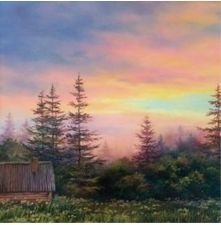 """End of Day"" by Varvara Harmon #OilPaintingForest"