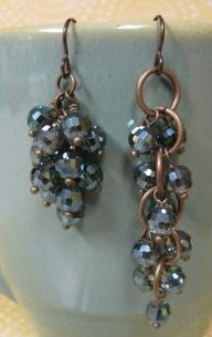 how to make cluster earrings - back to basics #Wire #Jewelry #Tutorials