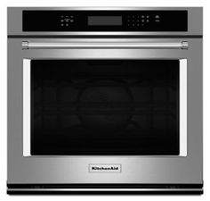 """Learn about features and specifications for the KitchenAid® 30"""" Single Wall Oven with Even-Heat™ True Convection (KOSE500ESS)"""