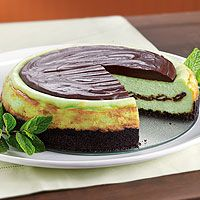 Creme de Menthe Cheesecake from Pampered Chef. This looks delicious!
