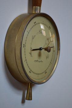 Vintage Danish Modern Barometer / Thermometer by GalaxieModern