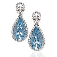 pear shaped aquamarine earrings