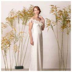 Off the shoulder bridal dress style bridal dress Minimalist Dresses, Minimalist Style, Minimalist Fashion, Bridal Dresses, Bridesmaid Dresses, Off The Shoulder, Couture, Formal Dresses, Collection