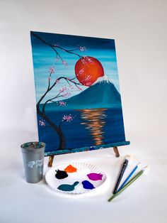 Join us at Pinot's Palette - Des Moines on Thu Feb 2020 for Japanese Rising Sun. Event Calendar, Sunrise, Japanese, Painting, Art, Art Background, Japanese Language, Painting Art, Kunst