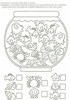 Crafts,Actvities and Worksheets for Preschool,Toddler and Kindergarten.Lots of worksheets and coloring pages. Preschool Learning, Kindergarten Worksheets, Worksheets For Kids, Preschool Activities, Teaching, Learning Skills, Early Learning, Hidden Pictures, Math For Kids