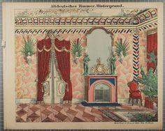Altdeutsches Zimmer. Hintergrund. No. 8619.
