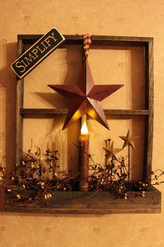 Tobacco Lath Window Box with LED Timer by PotpourriandLighting, $34.00