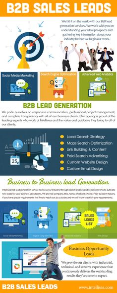 Check Out The Website http://www.intellisea.com/services-b2b-lead-generation/ for more information on B2b lead generation. When trying to make it a vital focus, B2b lead generation has to start the right way. For all expanding businesses, it would be best to start off tapping into the existing market to reach and find any of the new markets. This is his how you can build regular and stable clients.Follow us : http://www.alternion.com/users/localseocompany/