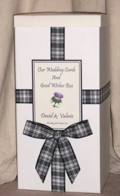 Tartan Wedding Post Box