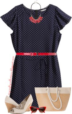 304444d3000 Women s Plus-Size Outfit  Vintage Inspired - Featuring items from Lane  Bryant