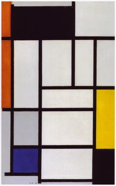 Piet Mondrian, Composition with Yellow, Red, Black, Blue and Grey, 1920