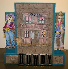 Sadie and Slim down at the Saloon! Card by Dawn Knight