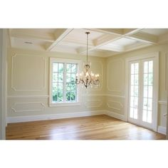 Trim Moldings - Transitional - dining room - Tiek Built Homes ❤ liked on Polyvore featuring rooms, empty rooms, interior, home and backgrounds