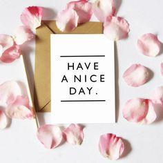 Kartka – Have a nice day
