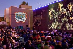 Fremont Almost Free Outdoor Cinema - Screen is flanked by huge murals of Bogart and Bergman, Jurassic Park playing on 8/30 at 7pm, sponsored by Talenti Gelato and you get a free gelato pop when you attend, food truck also available (TBD), tickets can be bought on the website for $5 plus  $1.27 service fee