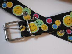 Vinatge Happy Face Belt size Medium  $6.00   #craftshout03/19