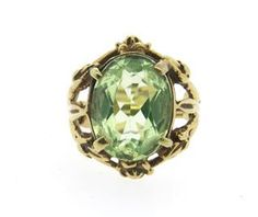 14k Gold Peridot Ring Available @ hamptonauction.com at the Fine Jewelry Watches Coins and Collectibles Auction on January 26, 2015! Come preview our catalog!