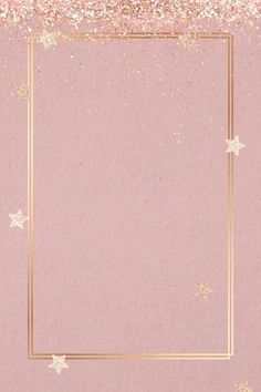 Festive shimmery vector frame pink star pattern | free image by rawpixel.com / Gade Glitter Frame, Glitter Stars, Pink Stars, Gold Stars, Rose Gold Texture, Golden Glitter, Free Illustrations, Star Patterns, Free Image