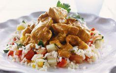 Deffmat: Kyckling med currysås - 400 kcal