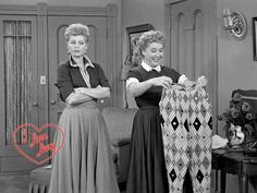"Lucy: ""They're hostess pants. You wear them when you give smart dinner parties."" Ethel: ""I was wondering what to wear at all those smart dinner parties I give.""  :)"