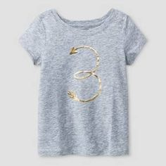 Circo Toddler Girls/' Peach with Star and Dots Graphics Tee Shirt 3T 4T 5T