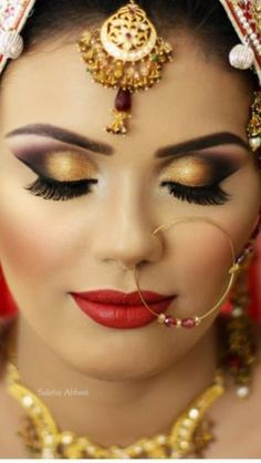 "Beautiful Bridal makeup done by Saleha Abbasi! ""Love her work and hope I can be as talented as she is one day!"" ~ #MyTypeofMakeup by Maha Karim, Atlanta"