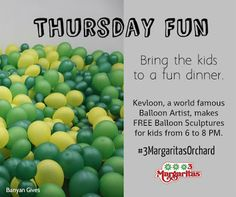 It's Thursday! Come and bring the kids. Enjoy your favorite Mexican fares PLUS the kids get to have fun with our world famous balloon artist. It's Thursday, World Famous, Westminster, Cool Kids, Mall, Have Fun, Balloons, Bring It On, Mexican